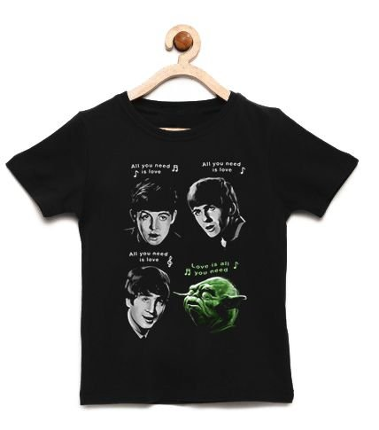 Camiseta Infantil The Beatles e Yoda- Loja Nerd e Geek - Presentes Criativos