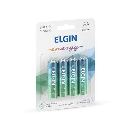 Pilha Alcalina AA LR¨1.5V Blister C/4 Elgin - 82153