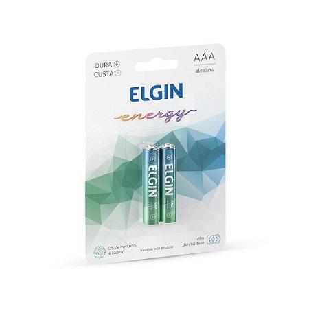 Pilha Alcalina AAA LR03 1.5V Blister C/2 Elgin - 82154