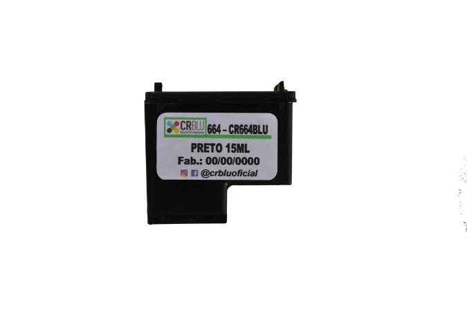 CR664BLU - Preto 15ml - Remanufaturado. (HP664)