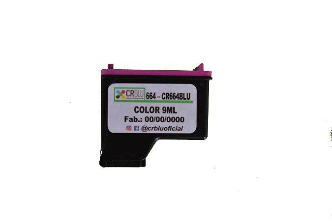 CR664BLU - Color 9ml - Remanufaturado. (HP664)