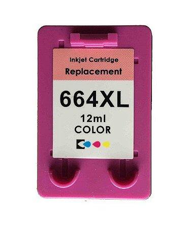 CR664BLU - Colorido 12ml - Compatível - Microjet - (HP664)