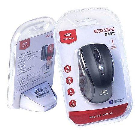 Mouse MW012BK V2 - Preto - Sem fio - Nano Receptor