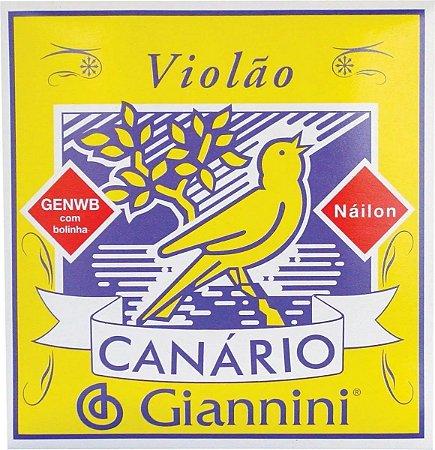 Encordoamento Violão Nylon c/ bolinha Canario Giannini