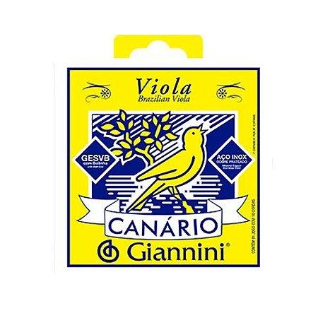 Encordoamento viola canario Giannini