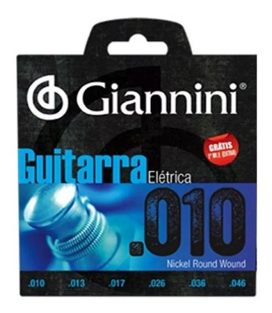 Encordoamento Guitarra.010 Giannini