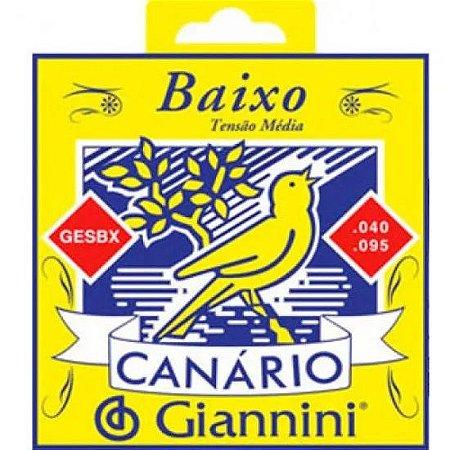 Encordoamento Baixo Eletrico 4 cordas Canario Giannini