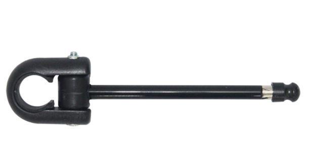 Antena Corta Pipa 6 Estágios M5B Com Abraçadeira Preta - Jojafer