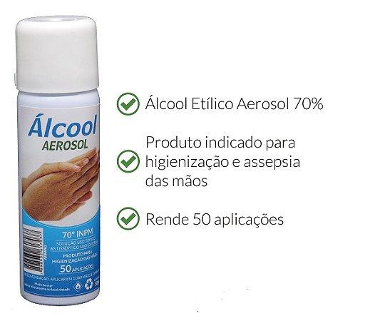 Álcool Aerosol Antisséptico 70% ARMAQ 50g
