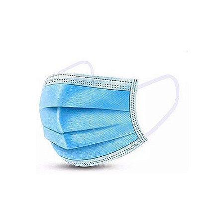 Máscara Cirúrgica Tripla C/Elástico Descartável 50 Unidades