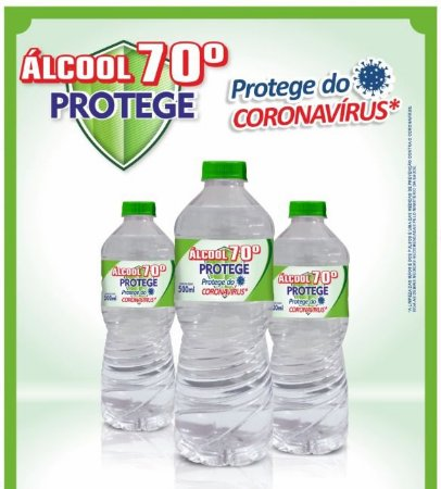 KIT 3 PCS ALCOOL LIQUIDO 70 500ML AUDACE