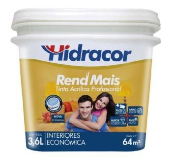 TINTA REND MAIS BRANCO NEVE GALÃO 3,6L HIDRACOR