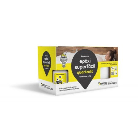 REJUNTE EPOXI SUPERFACIL PALHA 1KG QUARTZOLIT