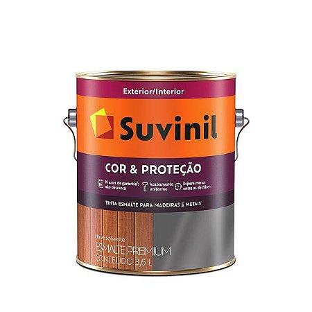 ESMALTE COR&PROTEÇÃO BRILHANTE CINZA MÉDIO 3,6L SUVINIL