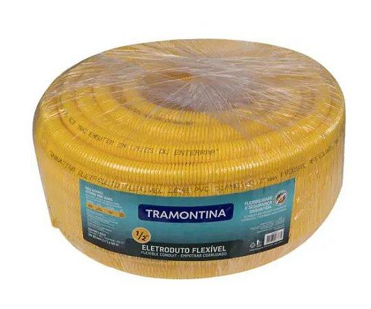"CONDUITE FLEXÍVEL AMARELO 1/2"" ROLO 20M TRAMONTINA"