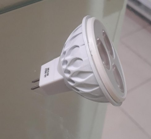 LAMPADA DICROICA LED 3W 2.700K AMARELA MR16 GU5.3 12V EKOLED