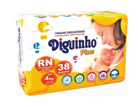 Fralda Descartável Infantil Diguinho RN