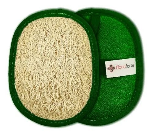 Esponja Bucha Vegetal Luxo Baby Verde Fibra Forte Revenda