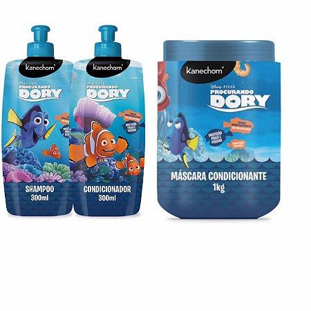 Kit Procurando Dory  Com Shampoo + Condicionador 300ml + Máscara Condicionante 1kg