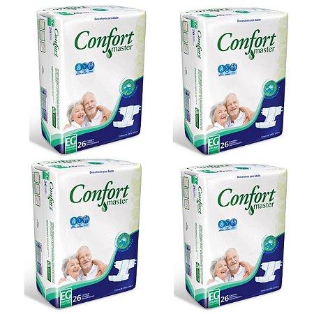Fralda Geriátrica Confort Master EG - 4 Pacotes Com 26 unidades
