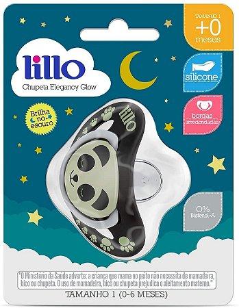 Chupeta Bebê Ortodô Lillo Panda Nº1 - Brilha No Escuro
