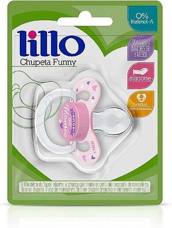 Chupeta Ortodôntica Lillo Amor Silicone Nº2 - Rosa