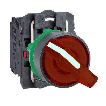 COMUTADOR 22MM  230V LED 2POS. FIXA NA/NF VM