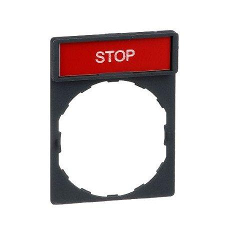 "PORTA ETIQUETA 30X40 PT/VM ""STOP"""