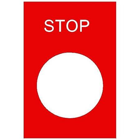 ETIQUETA C/MARCACAO STOP