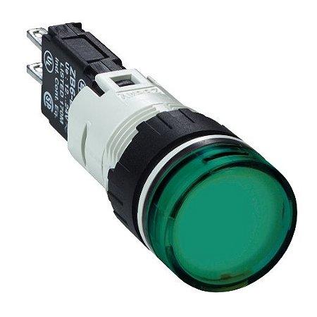 SINALEIRO PLAST. 16MM REDONDO C/LED 12-24VCA/VCC VD