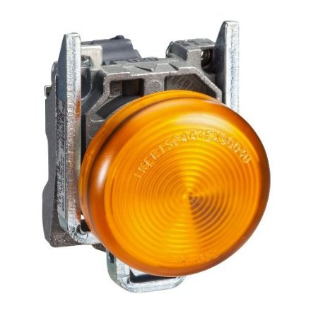 SINALEIRO METAL 22MM REDONDO C/LED 220V AM