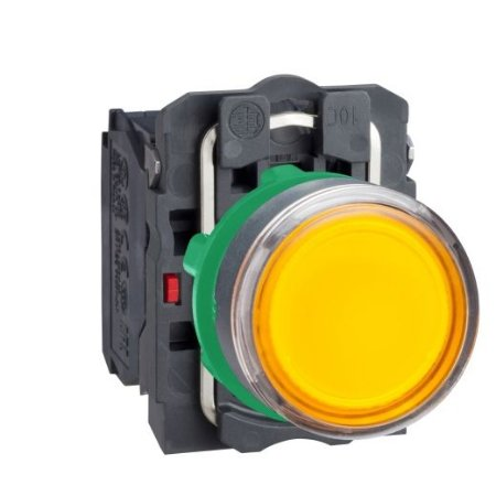 BOTAO 22MM LUMINOSO LED 24VCA/CC 1NA AM