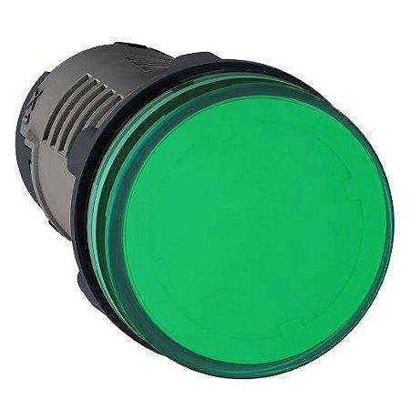 SINALEIRO PLAST. 22MM REDONDO C/LED  220V VD ECON.