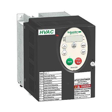 INVERSOR FREQ. ATV212 TRIF. 200-240VCA     3,00CV   10,60A S/FILTRO