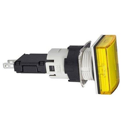 SINALEIRO PLAST. 16MM RETANGULAR C/LED 12-24VCA/VCC AM