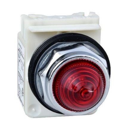 SINALIZADOR 30MM METAL. LED ALTO BRILHO   24VCA/CC VM