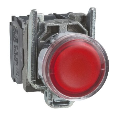 BOTAO COMANDO 22MM METAL. LUMINOSO LED 24VAC/CC 1NA+1NF VM