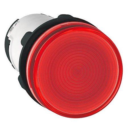 SINALEIRO PLAST. 22MM REDONDO C/RESISTOR C/LAMP. BA9S 130V VM ECON.