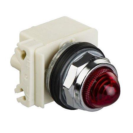 SINALIZADOR 30MM METALICO LED ALTO BRILHO 240VCA VM
