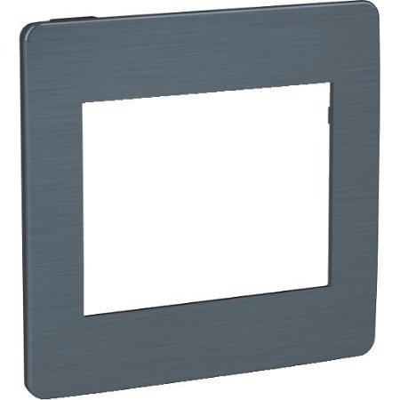 ORION PLACA ALUM. 4 X 4 P/3+3 MOD. ADJACENTES GALAXY BLACK C/MOLD. GRAFITE