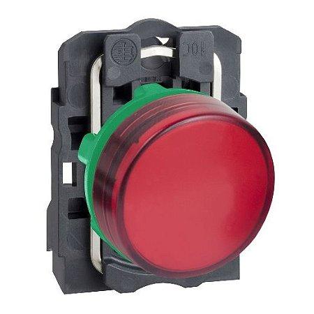 SINALEIRO PLAST. 22MM REDONDO C/LED  24VCA/VCC VM