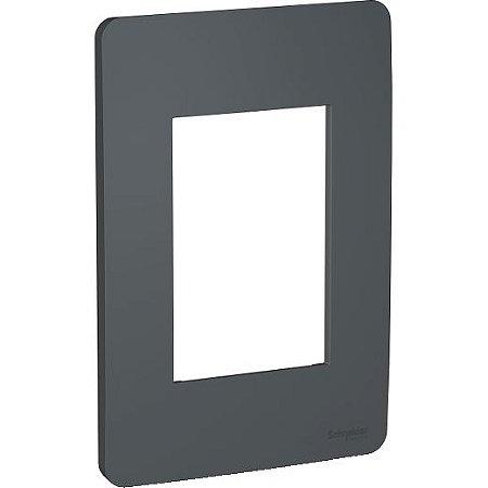 ORION PLACA ABS 4 X 2 P/3 MOD. ADJACENTES STELLAR BLACK