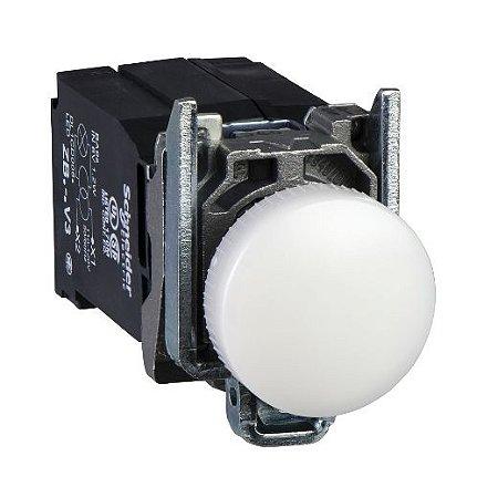SINALEIRO METAL 22MM REDONDO C/LAMP. BA9S C/TRANSF. 220V BC
