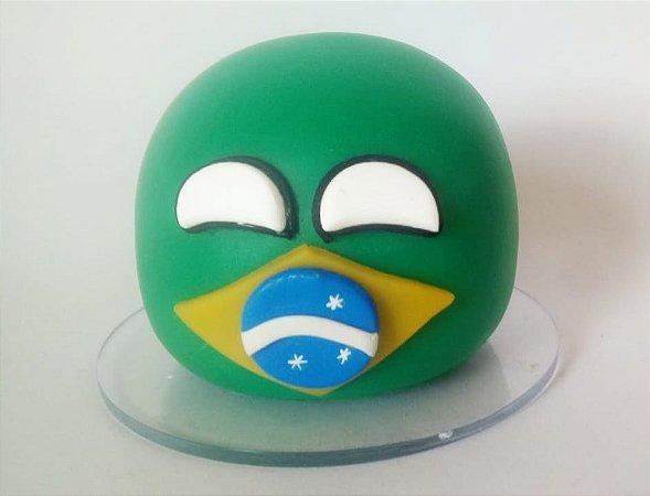 Brasilball de pelúcia + Brasilball de Biscuit - Countryballs