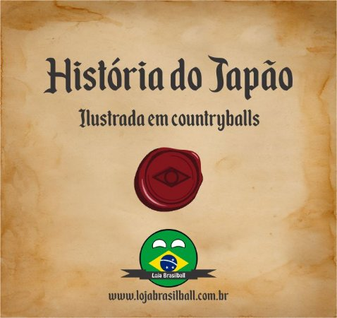 Japãoball Countryball + Ebook da História do Japão