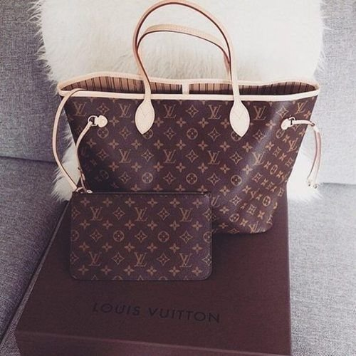 Bolsa Louis Vuitton Neverfull Monogram e Carteira Zuppy