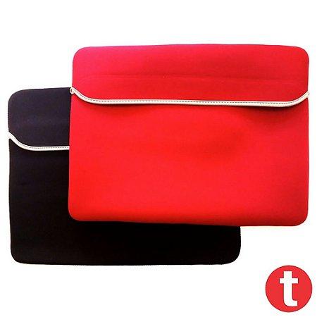 Luva Para Notebook 15,6 Polegadas Dupla Face Vermelho/Preto