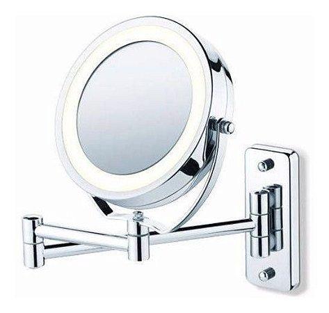 Espelho Parede Mesa Articulado Luz Led Zoom Aumento 5x