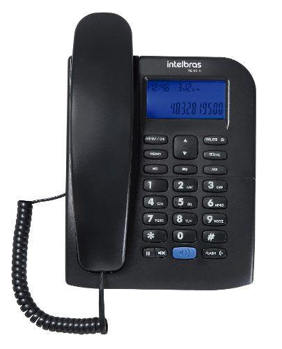 Aparelho Telefone Fixo Intelbras Tc 60 Com Bina E Viva Voz