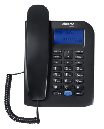 Aparelho Telefone Fixo Intelbras TC 60 Com Bina E Viva Voz  ID Display luminoso